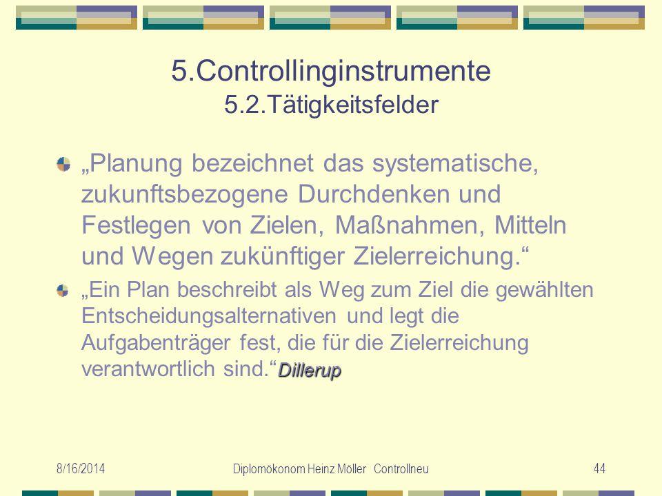 5.Controllinginstrumente 5.2.Tätigkeitsfelder