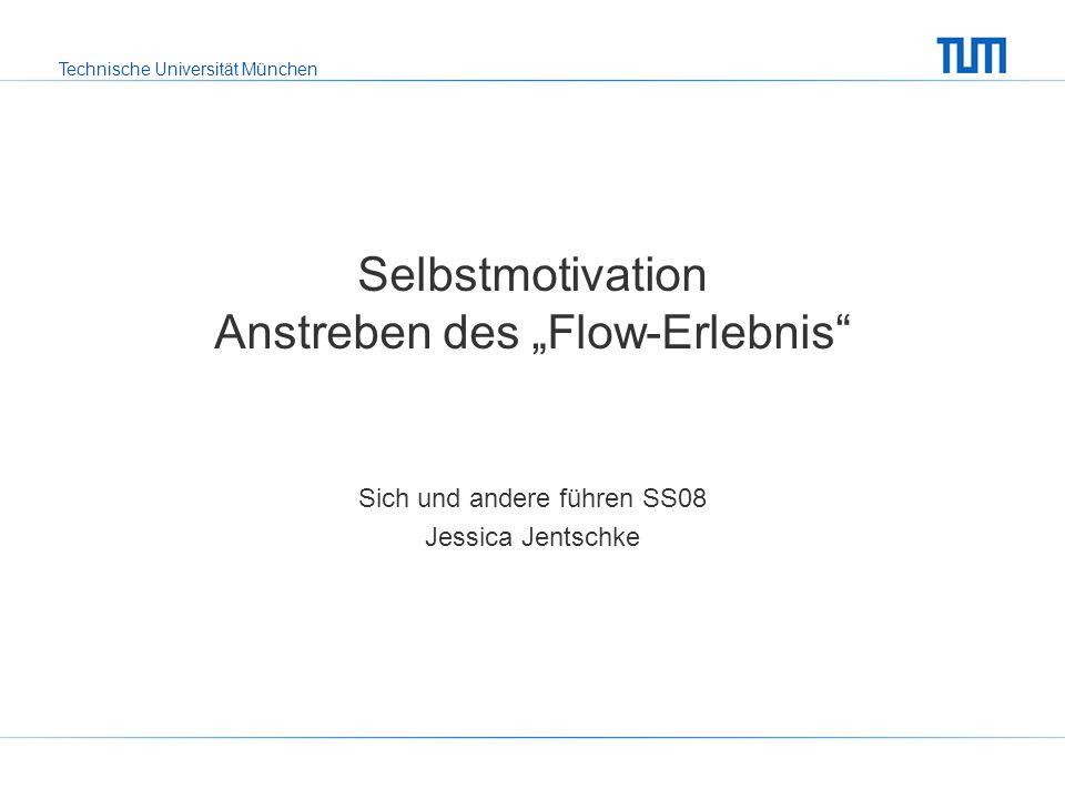 """Selbstmotivation Anstreben des """"Flow-Erlebnis"""