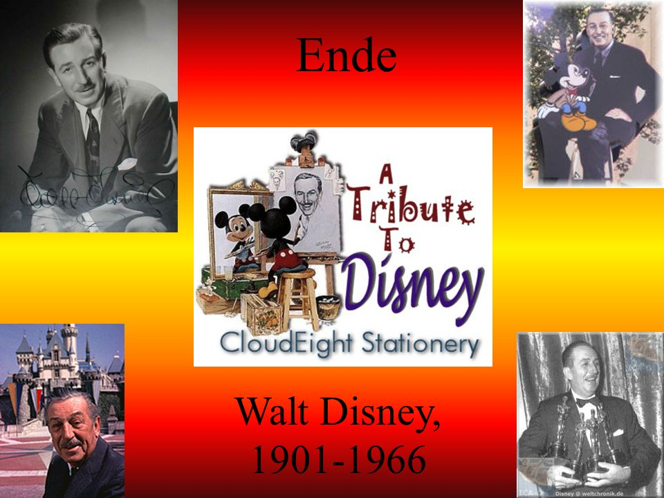 Ende Walt Disney, 1901-1966