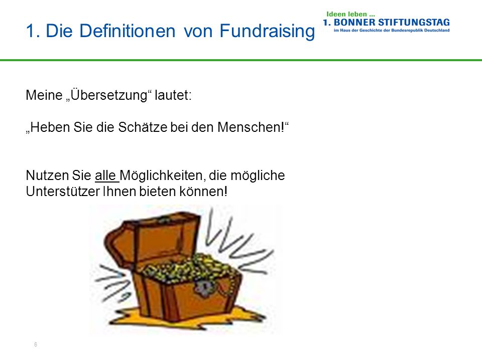1. Die Definitionen von Fundraising