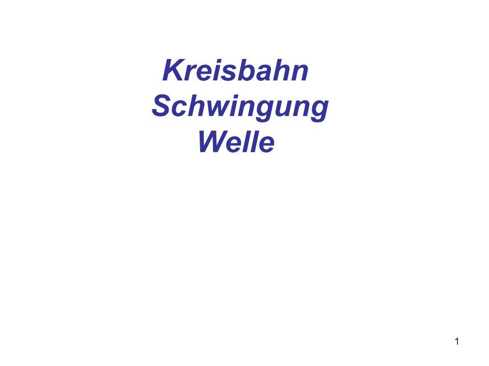 Kreisbahn Schwingung Welle