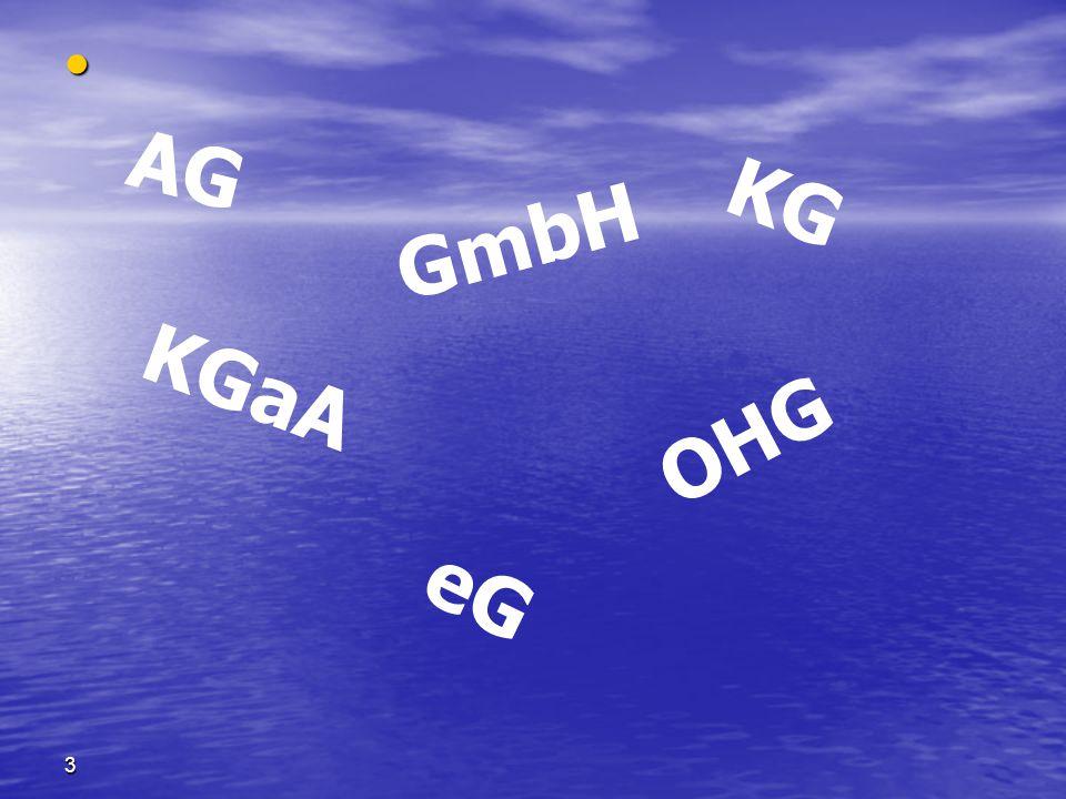 AG KG GmbH KGaA OHG Kennen Sie das Sie können das schon lesen. Ja eG 3