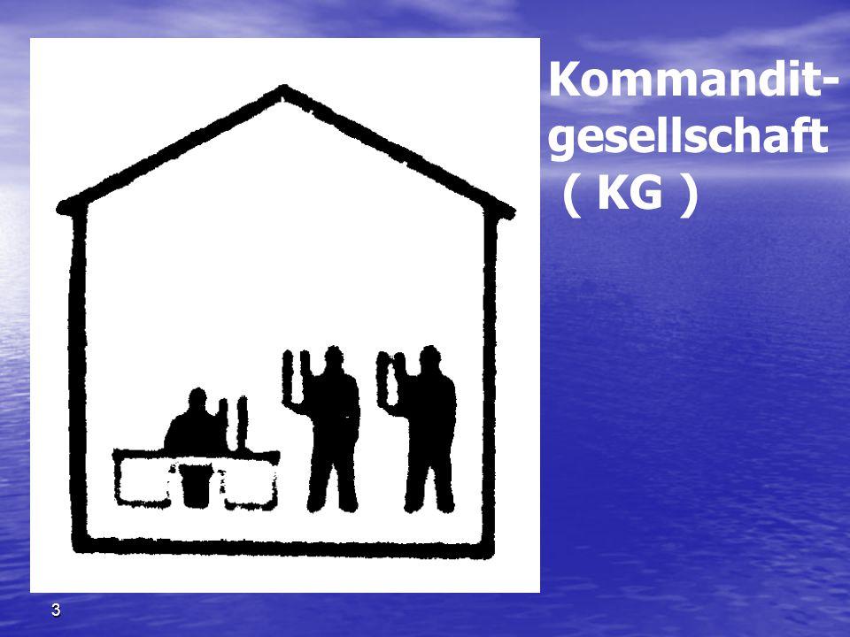 Kommandit- gesellschaft ( KG ) Kommanditgesellschaft ( KG ) 两合公司 3