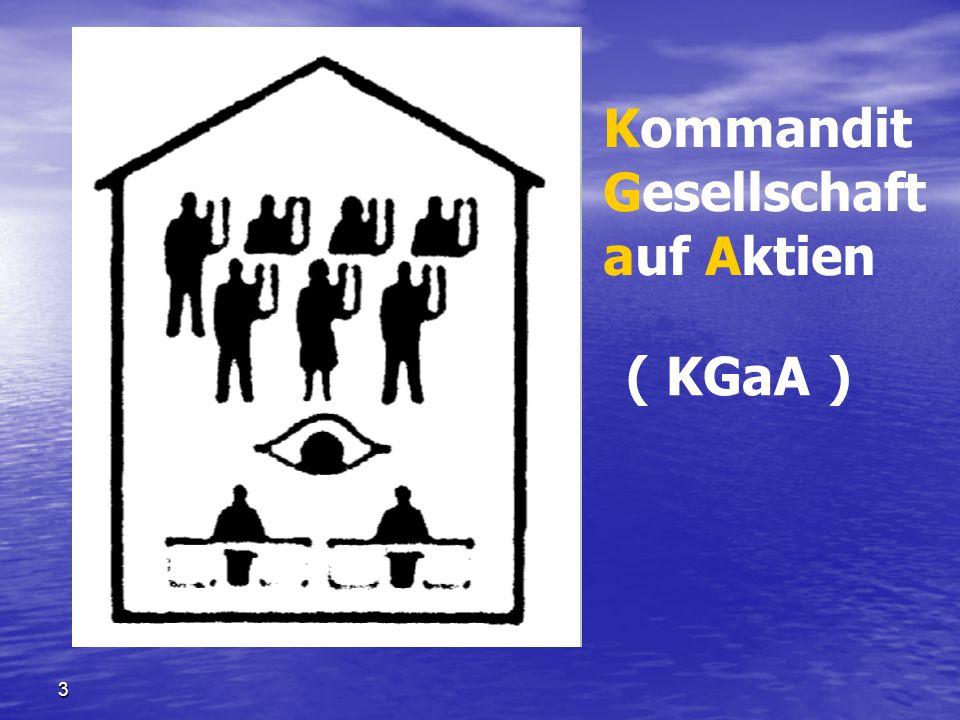 Kommandit Gesellschaft auf Aktien ( KGaA ) 3