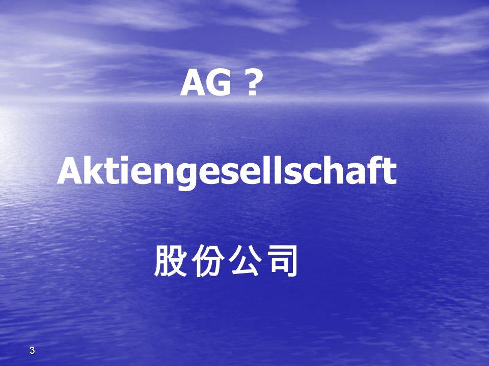 AG Aktiengesellschaft 股份公司 3
