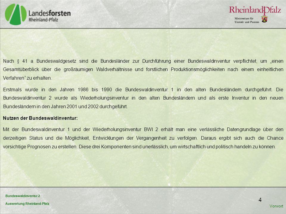 Nutzen der Bundeswaldinventur: