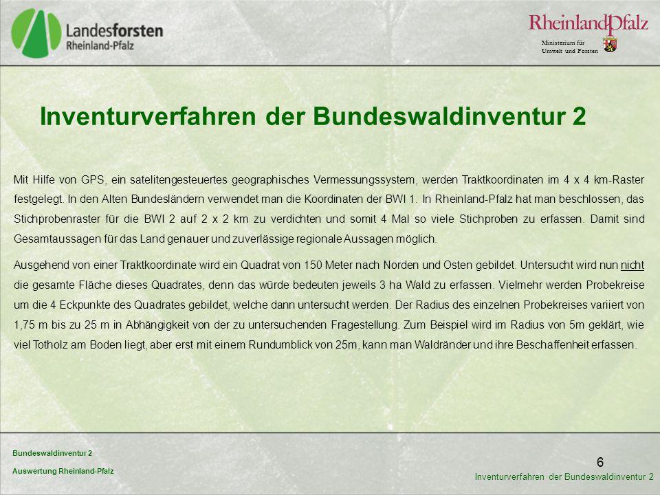 Inventurverfahren der Bundeswaldinventur 2
