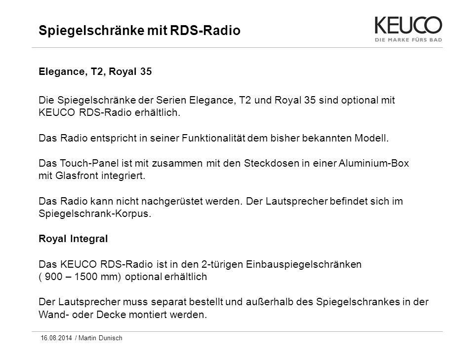 Spiegelschränke mit RDS-Radio
