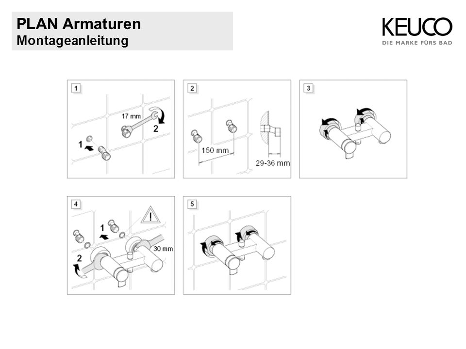 PLAN Armaturen Montageanleitung
