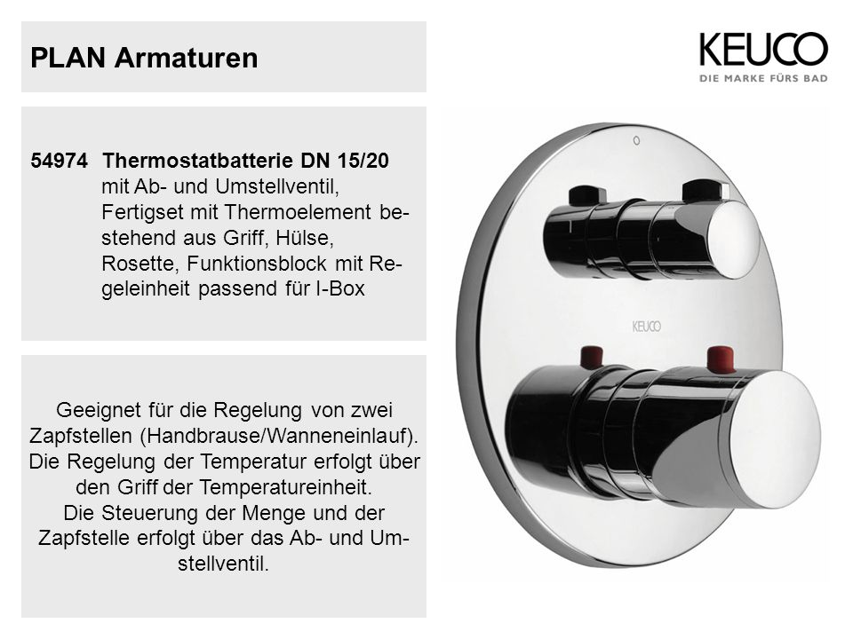 PLAN Armaturen