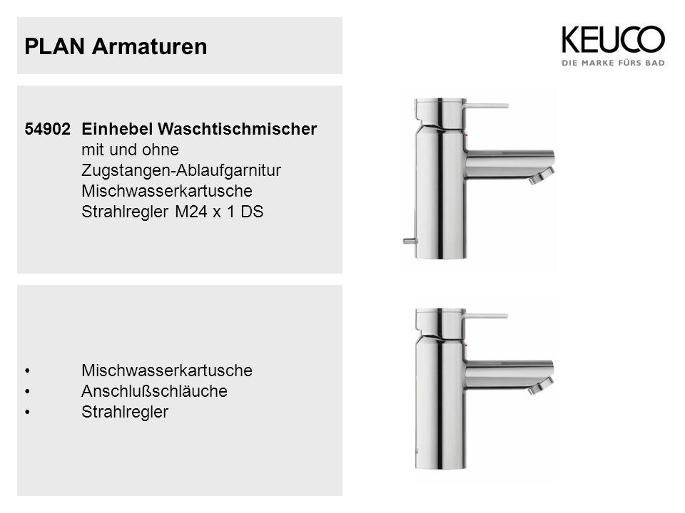 PLAN Armaturen 54902 Einhebel Waschtischmischer mit und ohne