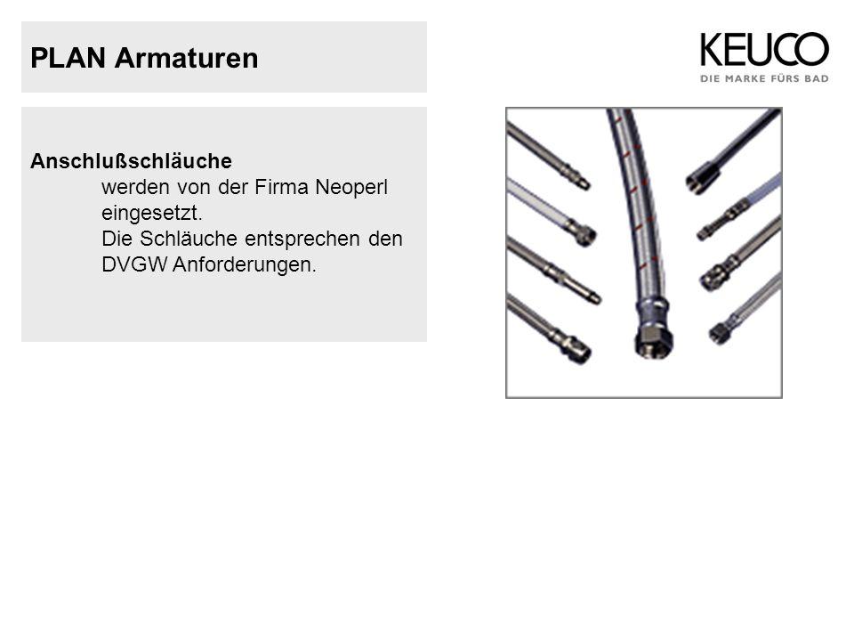 PLAN Armaturen Anschlußschläuche werden von der Firma Neoperl