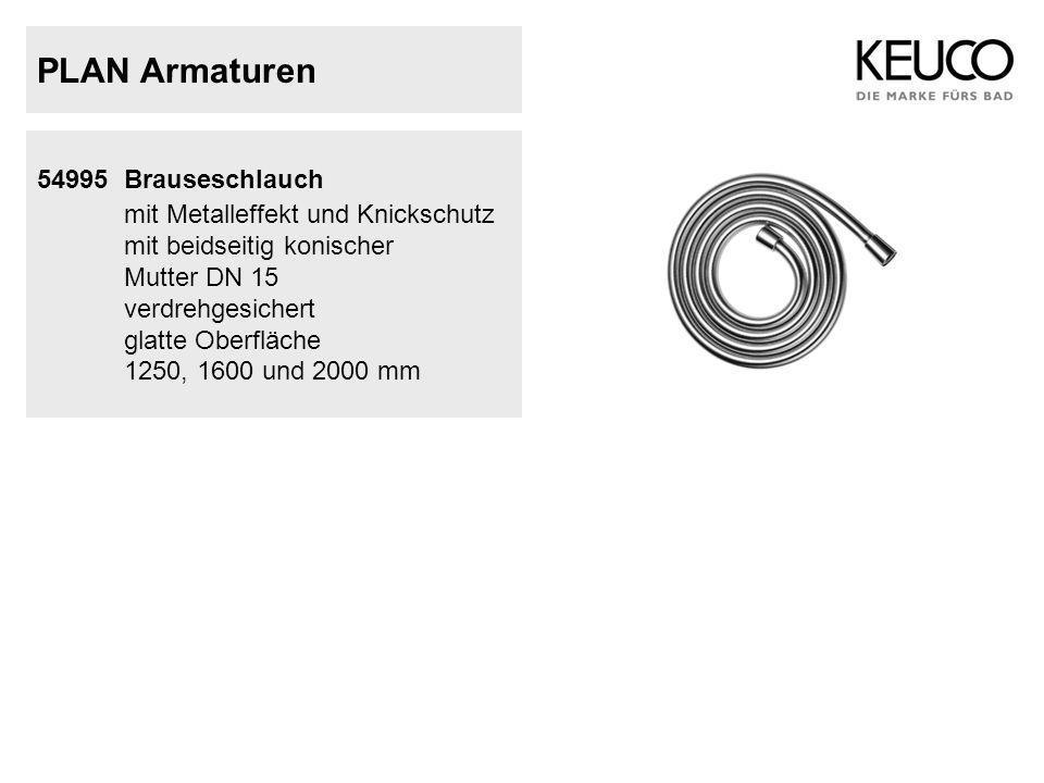 PLAN Armaturen mit Metalleffekt und Knickschutz 54995 Brauseschlauch