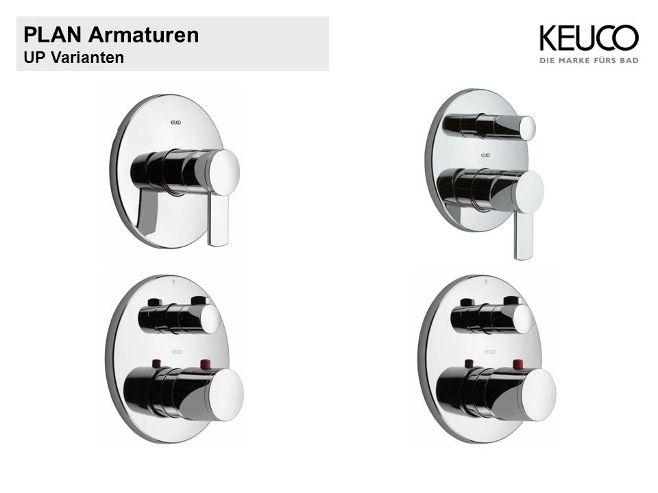 PLAN Armaturen UP Varianten