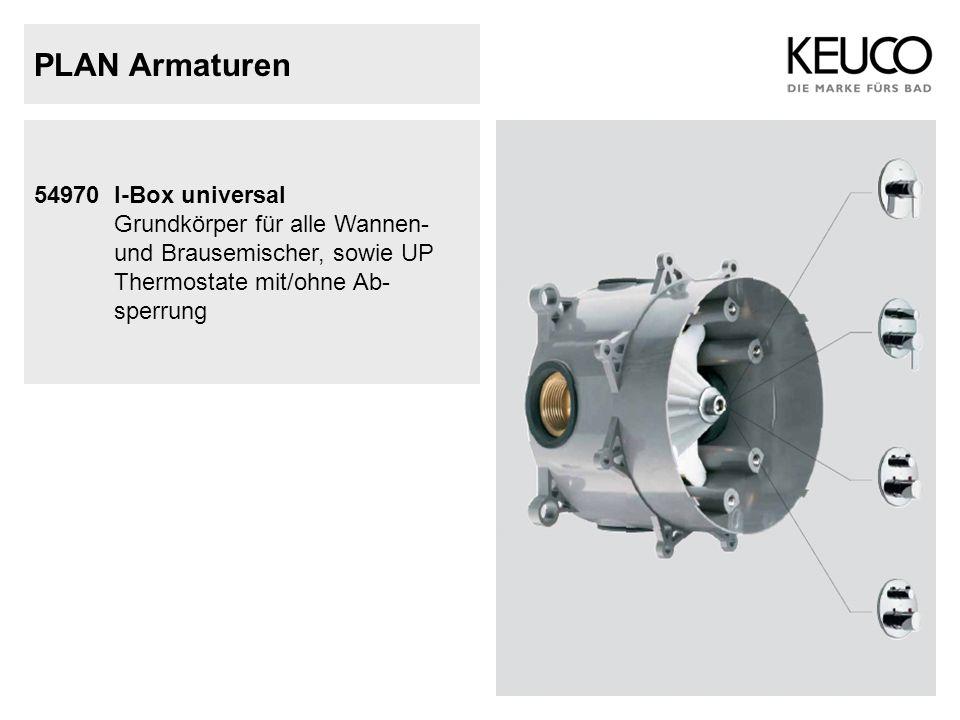 PLAN Armaturen 54970 I-Box universal Grundkörper für alle Wannen- und Brausemischer, sowie UP Thermostate mit/ohne Ab- sperrung.