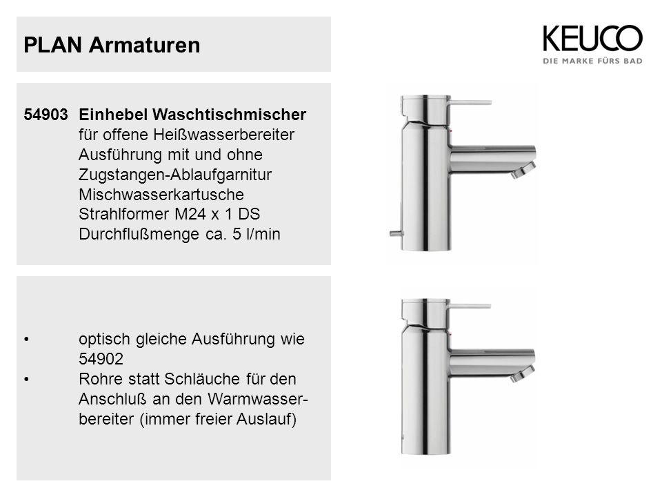 PLAN Armaturen 54903 Einhebel Waschtischmischer für offene Heißwasserbereiter Ausführung mit und ohne.