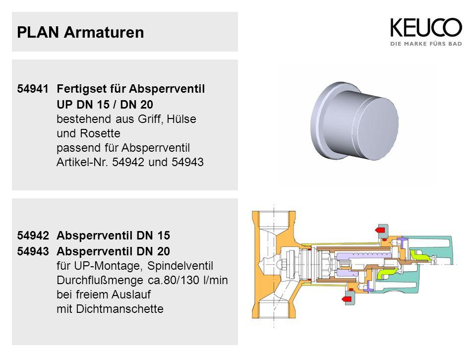 PLAN Armaturen UP DN 15 / DN 20 54941 Fertigset für Absperrventil