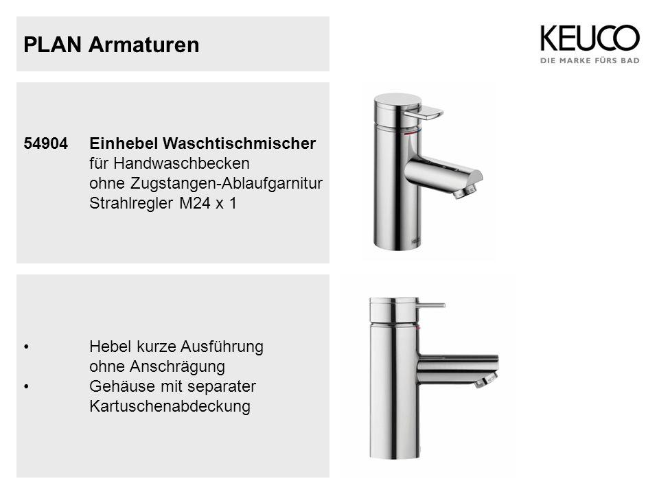 PLAN Armaturen 54904 Einhebel Waschtischmischer für Handwaschbecken ohne Zugstangen-Ablaufgarnitur Strahlregler M24 x 1.