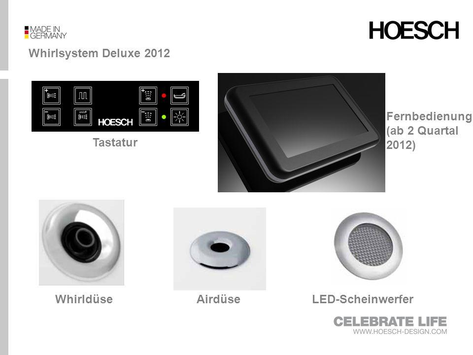 Whirlsystem Deluxe 2012 Fernbedienung (ab 2 Quartal 2012) Tastatur.