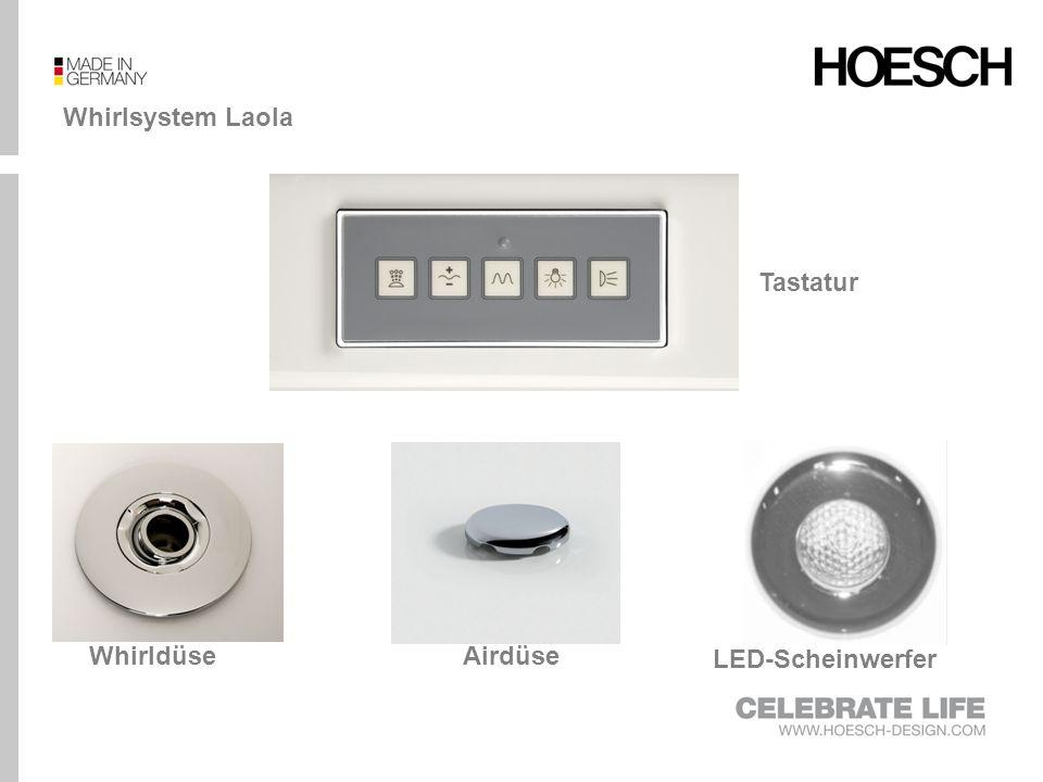 Whirlsystem Laola Tastatur Whirldüse Airdüse LED-Scheinwerfer