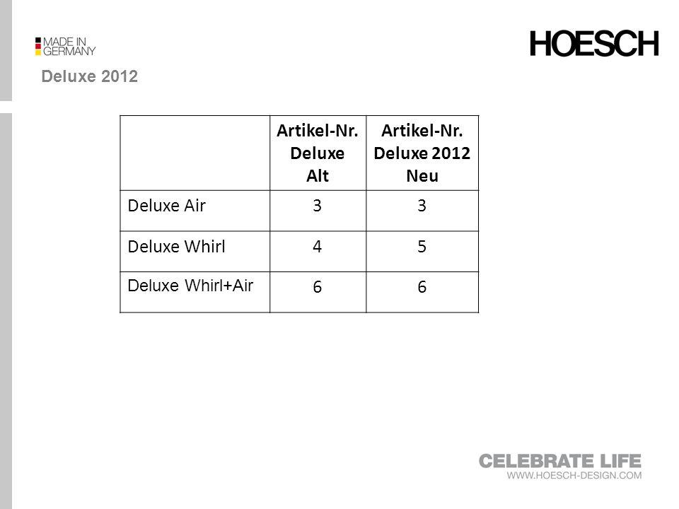 Artikel-Nr. Deluxe Alt Artikel-Nr. Deluxe 2012 Neu