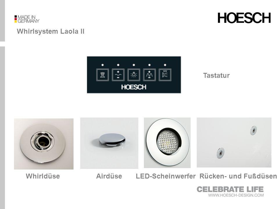 Whirlsystem Laola II Tastatur Whirldüse Airdüse LED-Scheinwerfer Rücken- und Fußdüsen