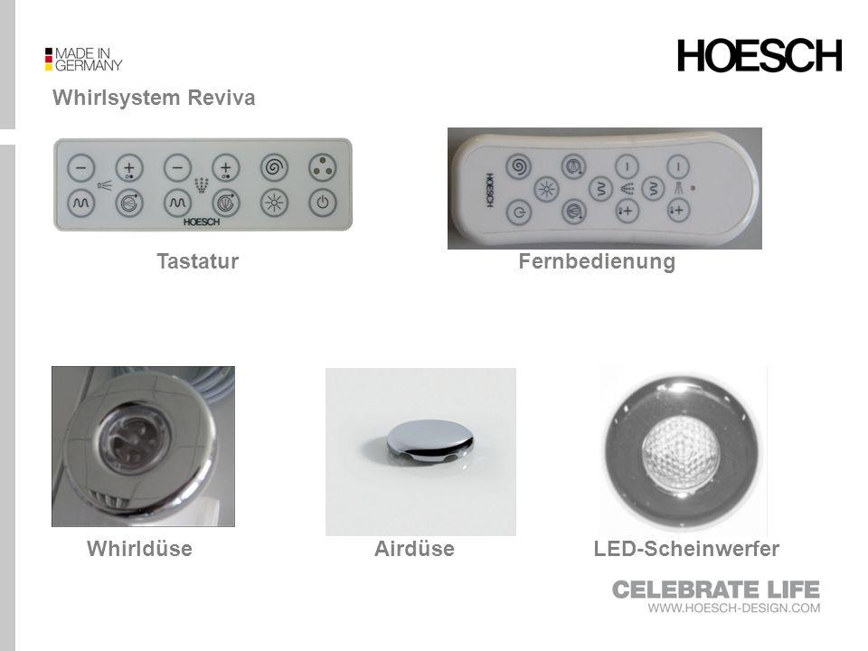 Whirlsystem Reviva Tastatur Fernbedienung Whirldüse Airdüse LED-Scheinwerfer
