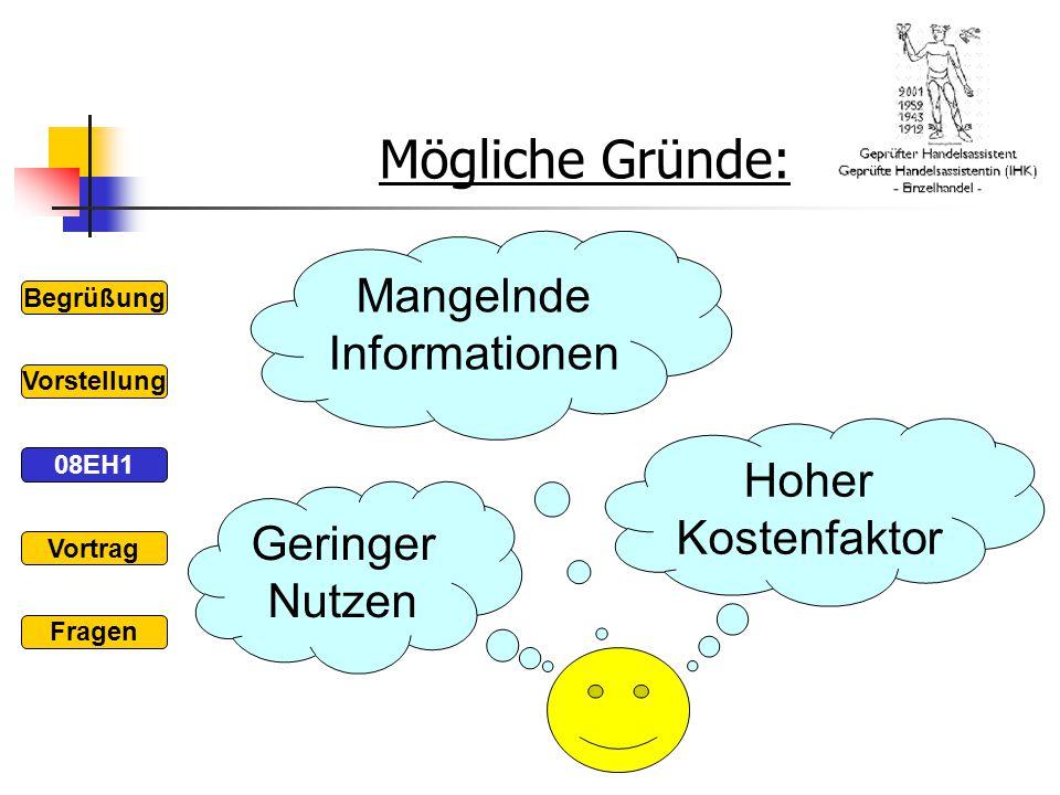 Mangelnde Informationen