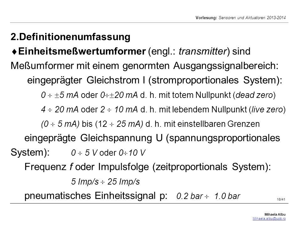 2. Definitionenumfassung Einheitsmeßwertumformer (engl