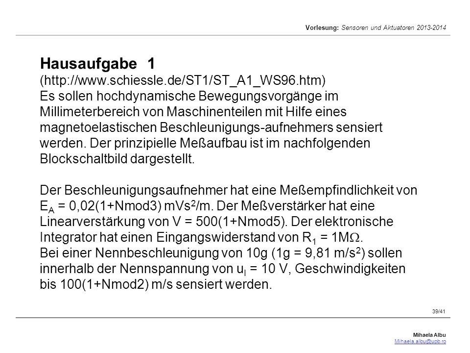 Hausaufgabe 1 (http://www. schiessle. de/ST1/ST_A1_WS96
