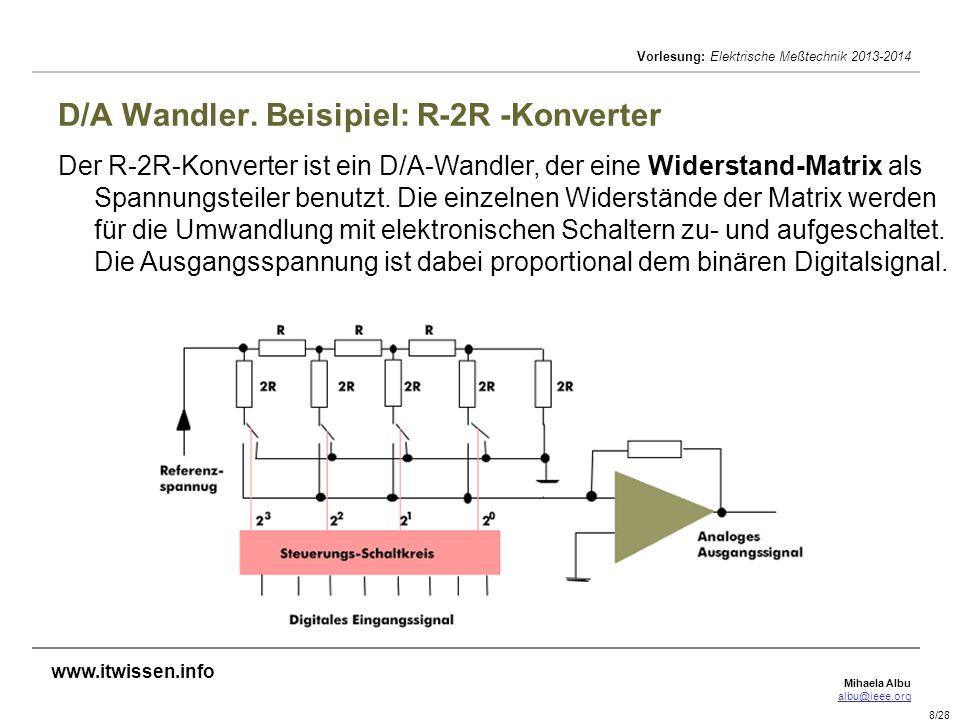 D/A Wandler. Beisipiel: R-2R -Konverter