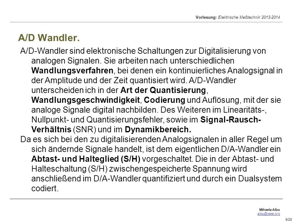 A/D Wandler.