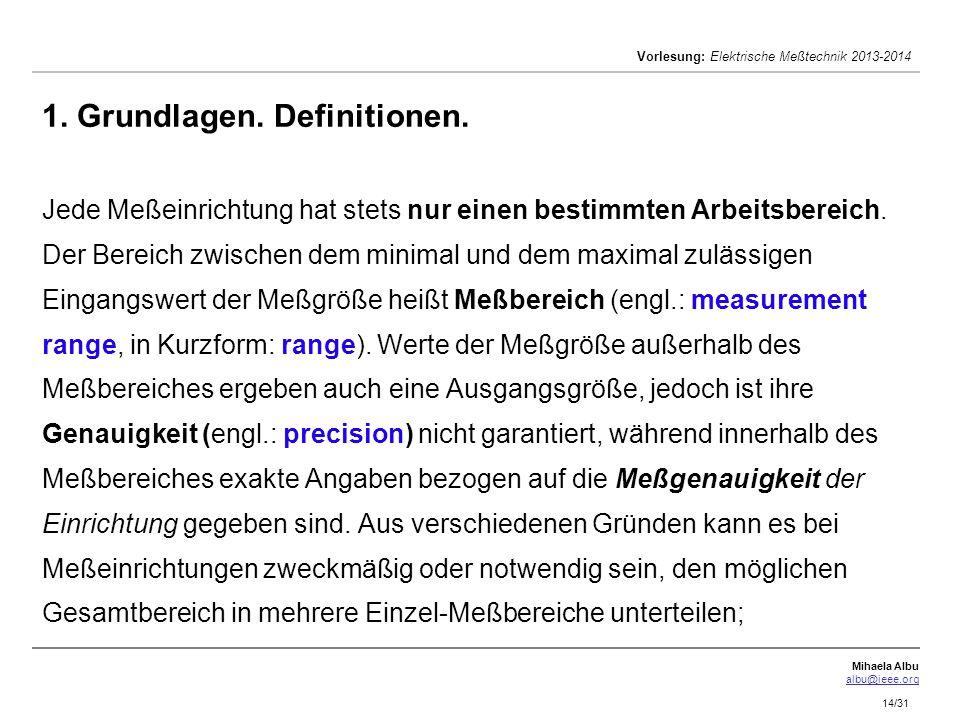 Meßtechnik Vorlesungen Wirtschaftsingenieurwesen und Ingenieurswesen ...
