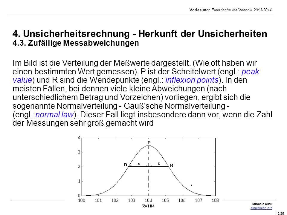 4. Unsicherheitsrechnung - Herkunft der Unsicherheiten 4. 3