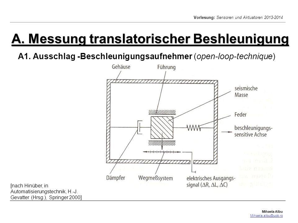 A. Messung translatorischer Beshleunigung