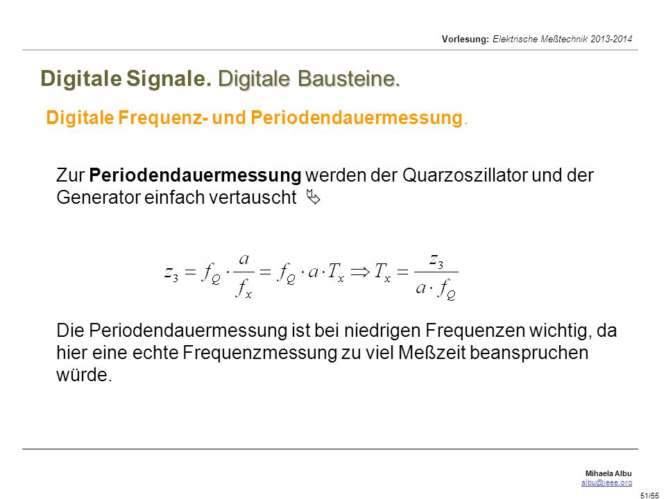 Digitale Signale. Digitale Bausteine.