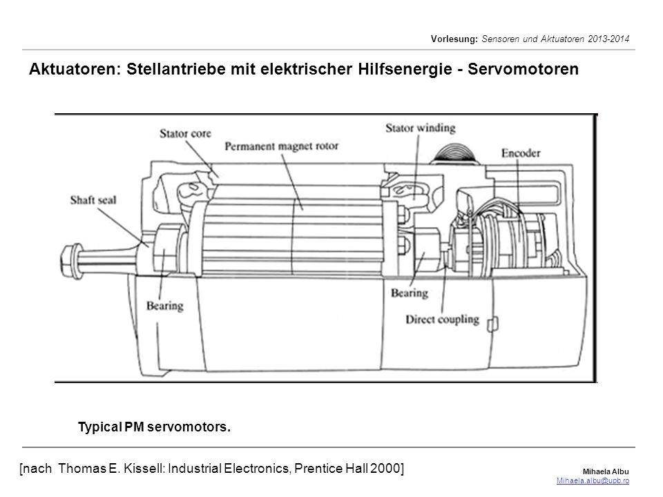 Aktuatoren: Stellantriebe mit elektrischer Hilfsenergie - Servomotoren