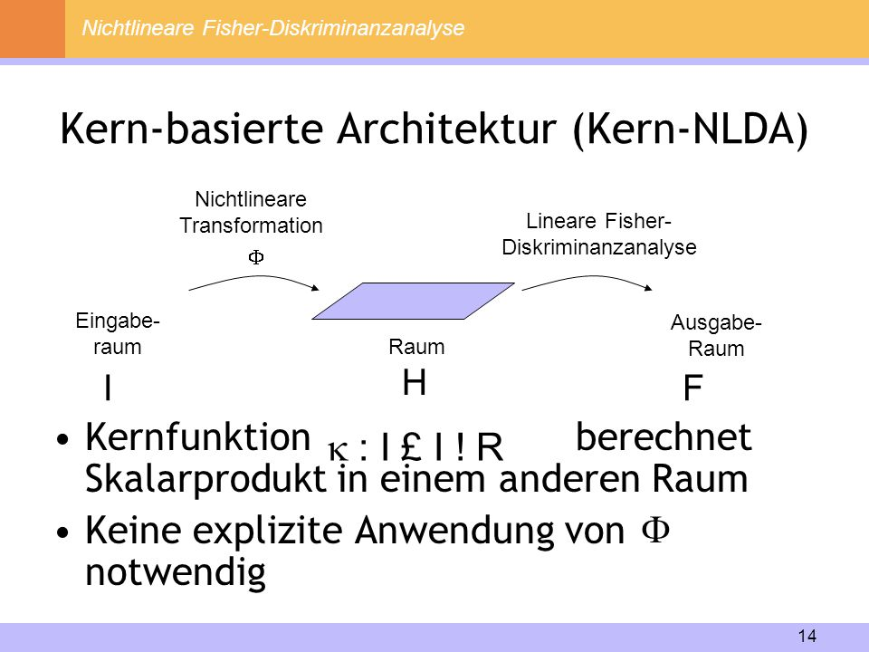 Kern-basierte Architektur (Kern-NLDA)