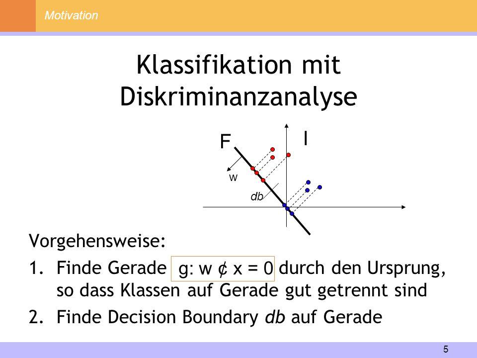 Klassifikation mit Diskriminanzanalyse