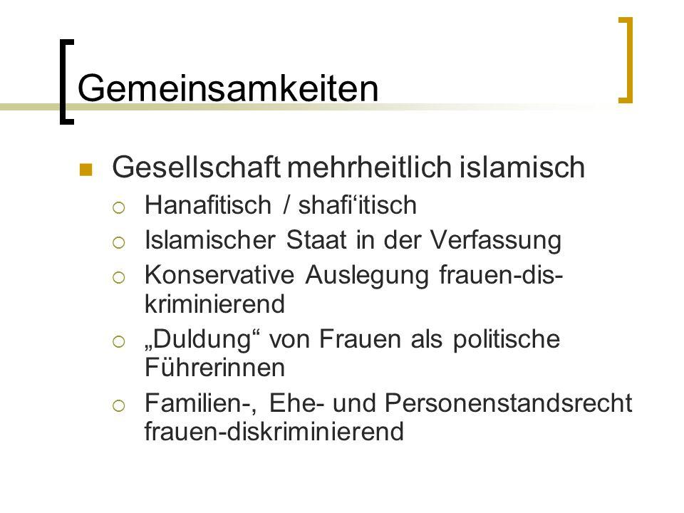 Gemeinsamkeiten Gesellschaft mehrheitlich islamisch