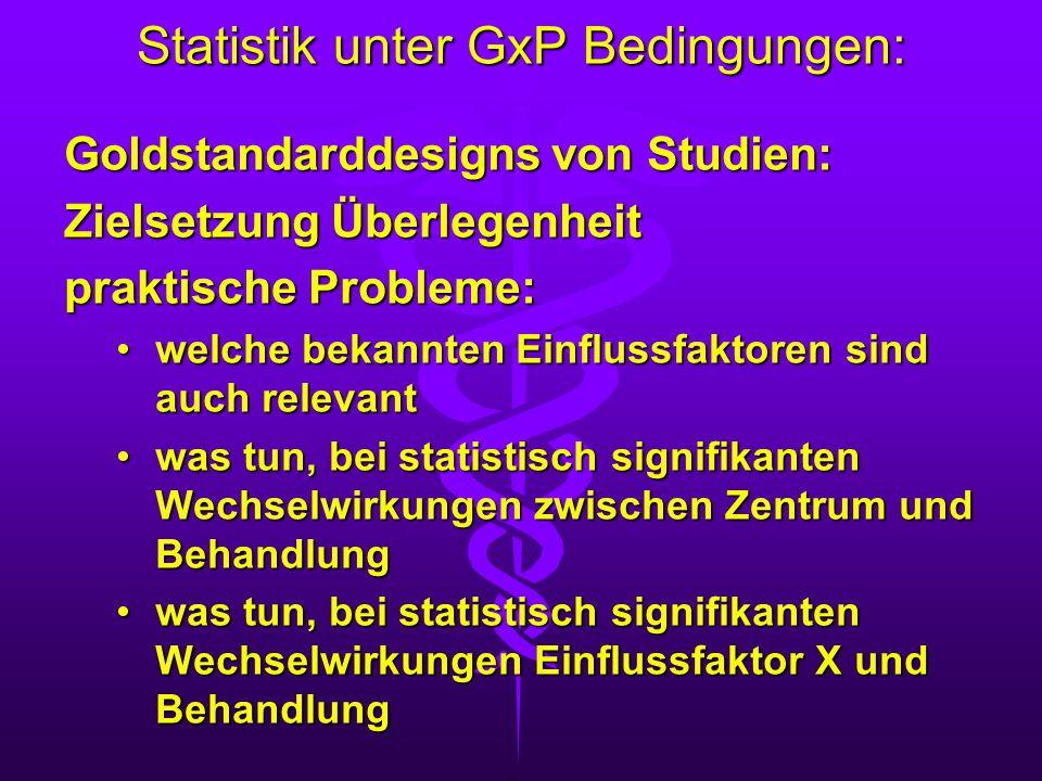 Statistik unter GxP Bedingungen: