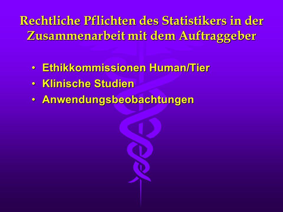 Ethikkommissionen Human/Tier Klinische Studien Anwendungsbeobachtungen