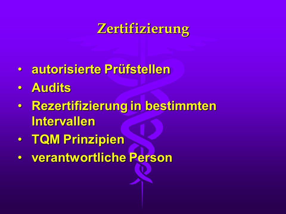 Zertifizierung autorisierte Prüfstellen Audits