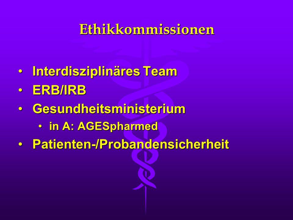 Ethikkommissionen Interdisziplinäres Team ERB/IRB