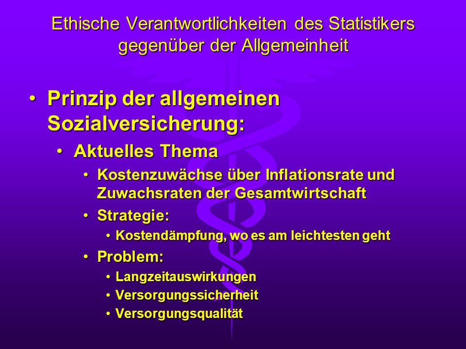 Prinzip der allgemeinen Sozialversicherung: