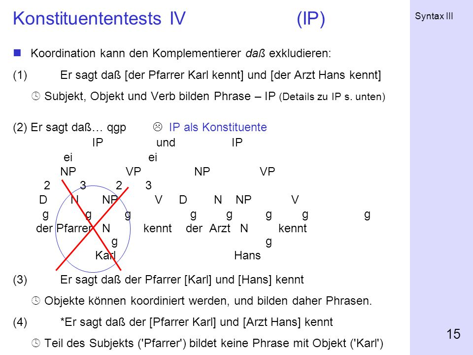 Konstituententests IV (IP)