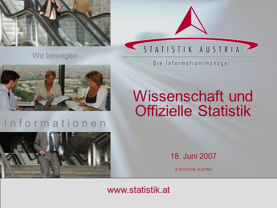 Wissenschaft und Offizielle Statistik