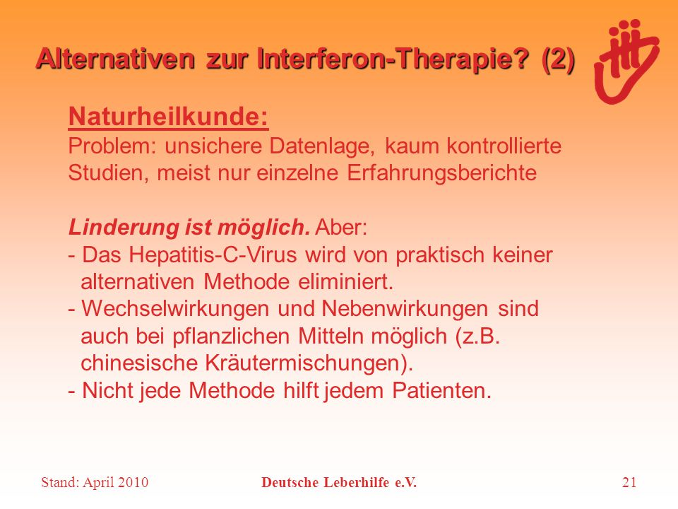 Alternativen zur Interferon-Therapie (2)
