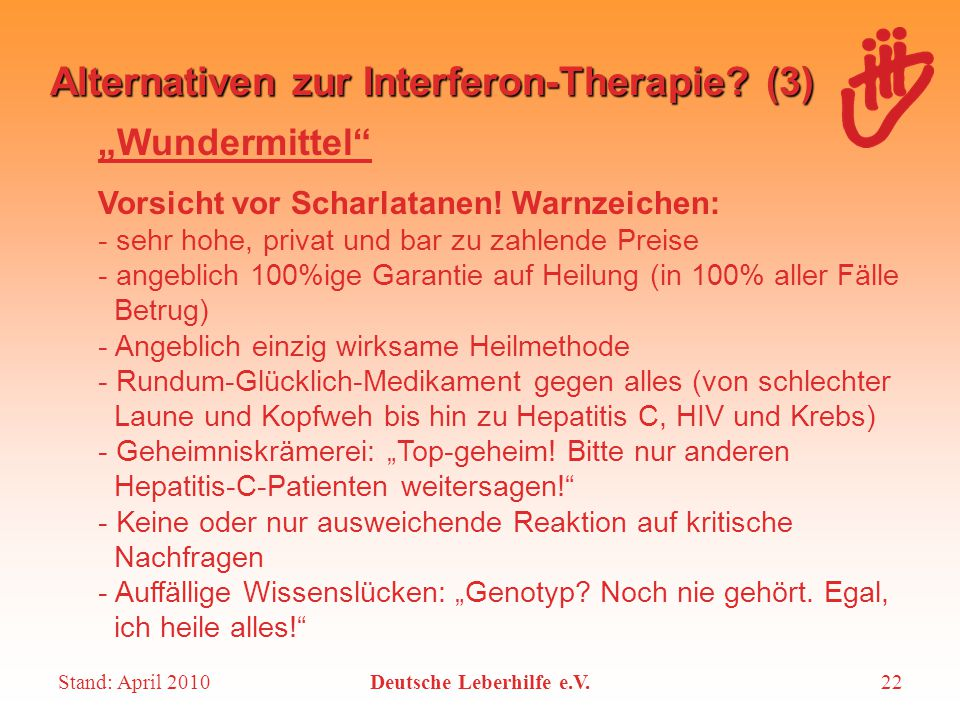 Alternativen zur Interferon-Therapie (3)