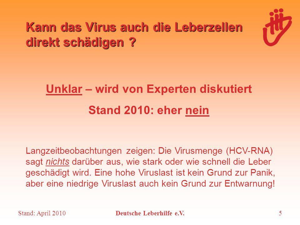 Kann das Virus auch die Leberzellen direkt schädigen